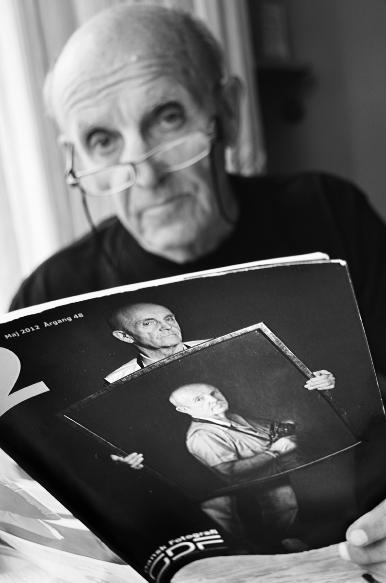 Viggo Rivad in his home on July 4, the day after his 90th birthday 2012 © Jan Oberg